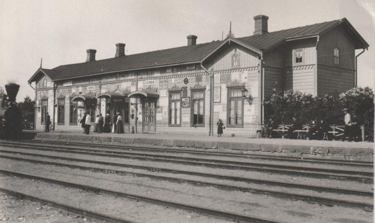 Loimaan rautatieasema, ehkä ensimmäinen kuvakortti asemasta